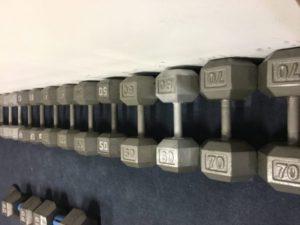 Dumb bells Increasing in weight