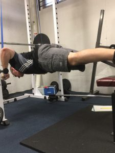 Suspended push-ups using home made TRX straps