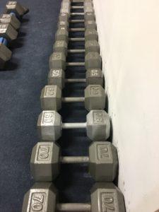 Set of dumbbells for a Drop Set