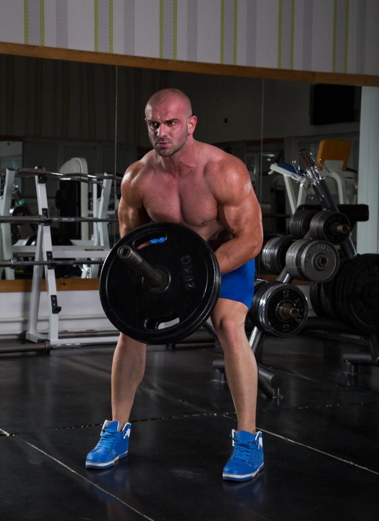 Vegan Bodybuilder in the gym