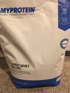 My Bag of Mocha Flaored Myprotein Impact Whey Isolate