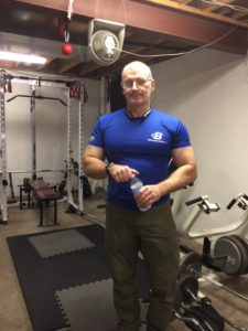 Dave in his Home Gym